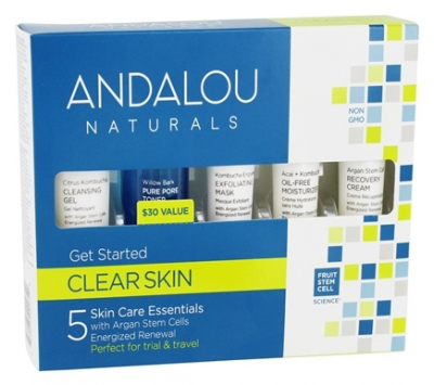 Andalou Clear Skin GetStarted Kit, 5 Pieces