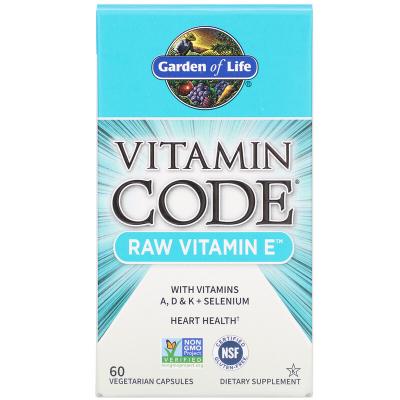 Garden of Life, Vitamin Code, RAW Vitamin E, 60 Φυτοκάψουλες