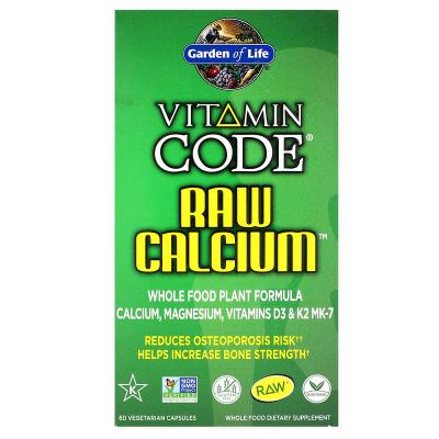 Garden of Life, Vitamin Code, RAW Calcium, 60 Χορτοφαγικές Κάψουλες