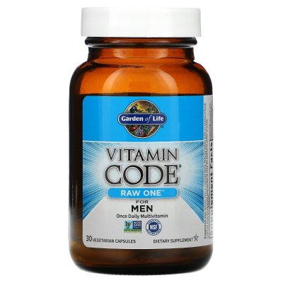 Garden of Life, Vitamin Code, Raw One For Men Once Daily Multivitamin, 30 Φυτοκάψουλες
