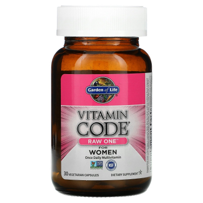 Garden of Life, Vitamin Code, Raw One For Women Once Daily Multivitamin, 30 Χορτοφαγικές Κάψουλες