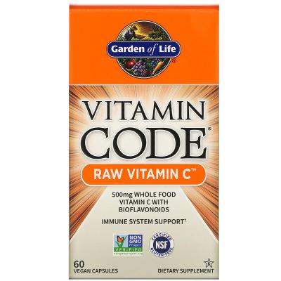 Garden of Life, Vitamin Code, RAW Vitamin C, 60 Βίγκαν Κάψουλες