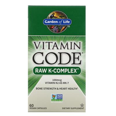 Garden of Life, Vitamin Code, RAW K-Complex, 60 Βίγκαν Κάψουλες