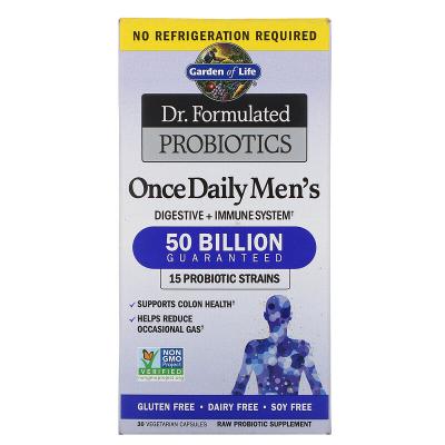 Garden Of Life, Dr. Formulated Probiotics, Once Daily Men's, 50 Δισεκατομμύρια, 30 Φυτοκάψουλες