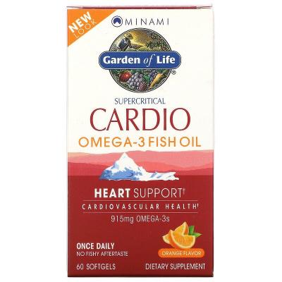 Garden of Life, Minami Supercritical Cardio, Omega-3 Fish Oil, Γεύση Πορτοκάλι, 915 mg , 60 Μαλακά Τζελ
