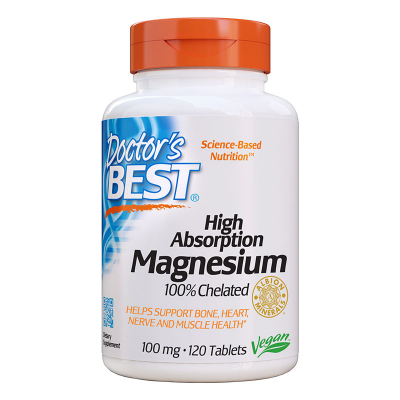Doctor's Best, High Absorption Magnesium, 120 Βίγκαν Κάψουλες