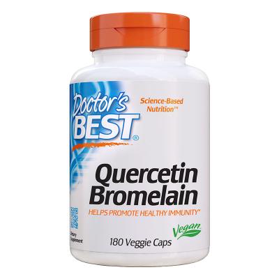 Doctor's Best, Quercetin Bromelain, 180 Βίγκαν Κάψουλες