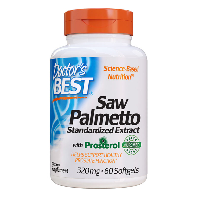 Doctor's Best, Saw Palmetto, Standardized Extract, 320 mg, 60 Softgels