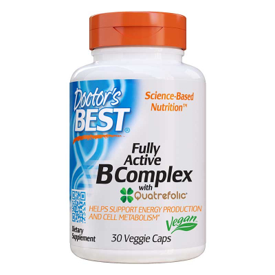 Doctor's Best, Fully Active B Complex, 30 Βίγκαν Κάψουλες