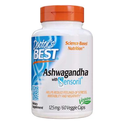 Doctor's Best, Best Ashwagandha, 125 mg, 60 Βίγκαν Κάψουλες