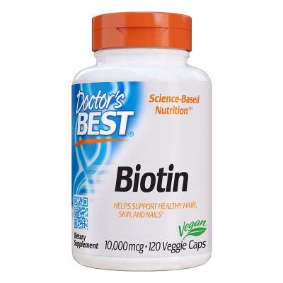 Doctor's Best, Biotin, 10,000 mcg, 120 Βίγκαν Κάψουλες