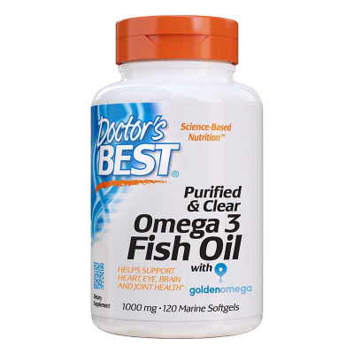 Doctor's Best, Purified & Clear Omega 3 Fish Oil, 1000 mg, 120 Μαλακά Τζελ