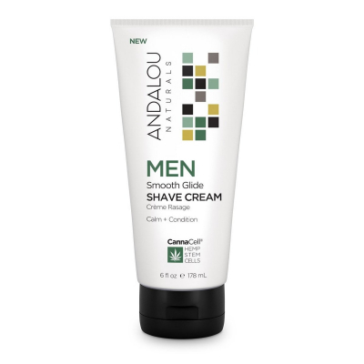 Andalou Naturals CannaCell Smooth Glide Shave Cream for Men 178ml