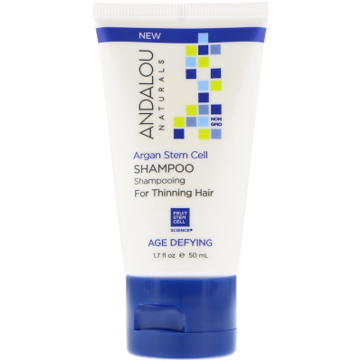 Andalou Naturals, Shampoo, Age Defying, For Thinning Hair, Argan Stem Cell, 50 ml