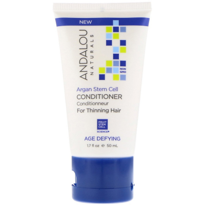 Andalou Naturals, Conditioner, Age Defying, For Thinning Hair, Argan Stem Cell, 50 ml