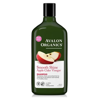 Avalon Organics, Σαμπουάν Με Ξίδι Μηλίτη Μήλου, Τσουκνίδα, Αργκάν & Μπαμπασού, Smooth Shine, 11 fl oz (325 ml)