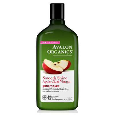 Avalon Organics, Conditioner Με Ξίδι Μηλίτη Μήλου, Smooth Shine, 11 oz (312 Γραμμάρια)