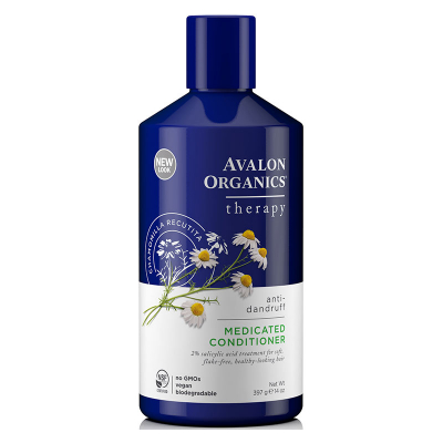 Avalon Organics, Therapy, Anti-Dandruff, Θεραπευτικό Conditioner, Κατά Της Πιτυρίδας, Chamomilla Recutita, 14 oz (397 Γραμμάρια)