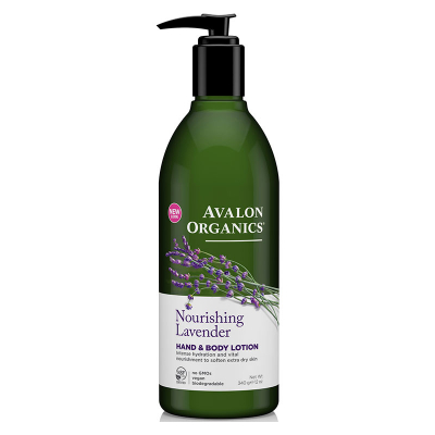 Avalon Organics, Λοσιόν Χεριών & Σώματος Με Λεβάντα, Nourishing Lavender, 12 oz (340 Γραμμάρια)