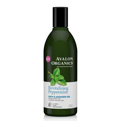 Avalon Organics, Αφρόλουτρο Με Μέντα, Revitalizing Peppermint, 12 fl oz (355 ml)