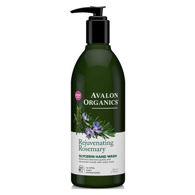 Avalon Organics, Σαπούνι Χεριών Γλυκερίνης Με Δεντρολίβανο, Rejuvenating Rosemary, 12 fl oz (355 ml)