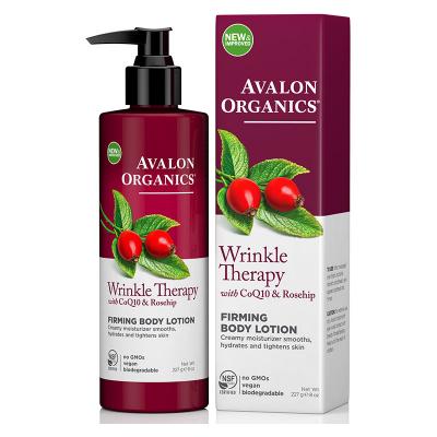 Avalon Organics, Wrinkle Therapy, Με CoQ10 & Rosehip, Συσφικτική Λοσιόν Σώματος, 8 oz (227 Γραμμάρια)