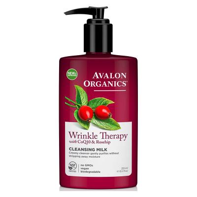 Avalon Organics, Wrinkle Therapy, Με CoQ10 & Rosehip, Γαλάκτωμα Καθαρισμού, 8.5 fl oz (251 ml)