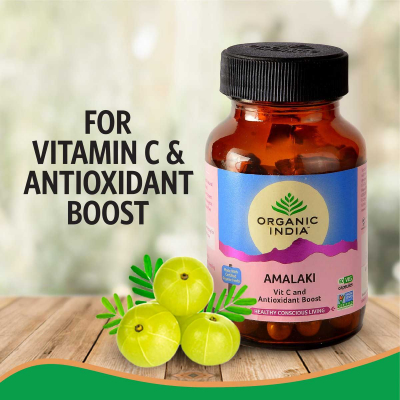 Organic India, Amalaki, Μπουκαλάκι Με Χορτοφαγικές 90 Κάψουλες