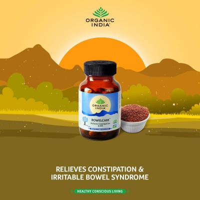 Organic India, Bowelcare, Μπουκαλάκι Με 90 Χορτοφαγικές Κάψουλες