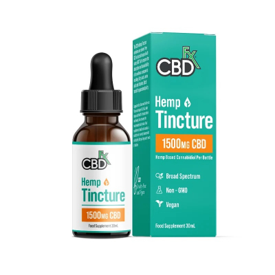 CBDfx, 100% Organic CBD Tincture Oil, 30ml, 1500mg