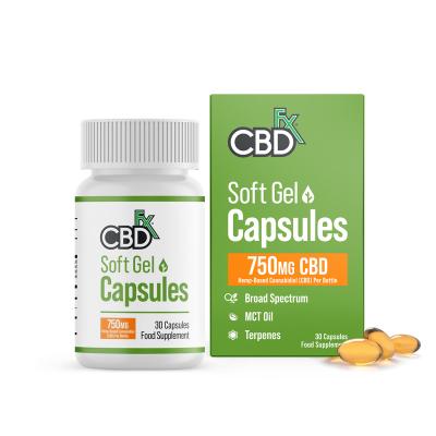 CBDfx, Organic Gel Capsules, 750mg, 30 Capsules