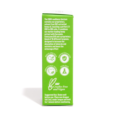 CBDfx, 100% Organic Ultimate Wellness CBD Tincture Oil, 2000mg