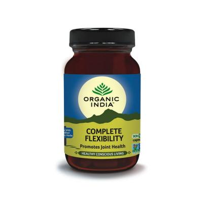 Organic India, Complete Flexibility, Μπουκαλάκι Με 90 Χορτοφαγικές Κάψουλες