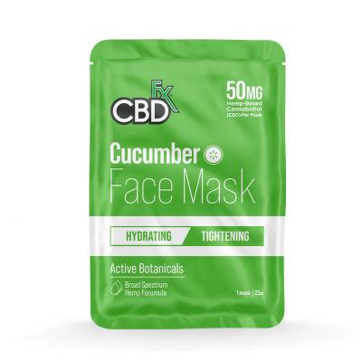 CBDfx, Hemp Face Mask - Cucumber, 50mg