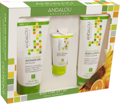 Andalou Naturals, Citrus Sunflower Uplifting Body Care Gift Pack