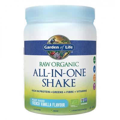 Garden of Life, Raw Organic All-In-One Shake, Vanilla, 484 Γραμμάρια