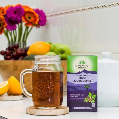 Organic India, Τσάι Licorice Spice Με Τούλσι, Χωρίς Καφεΐνη, 25 Φακελάκια