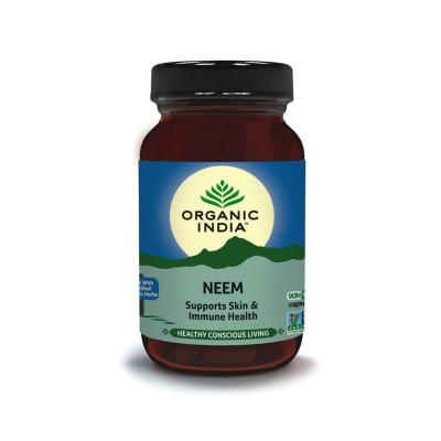 Organic India, Neem, Μπουκαλάκι Με 90 Χορτοφαγικές Κάψουλες