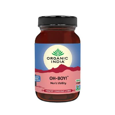 Organic India, Oh-Boy, Μπουκαλάκι Με 30 Χορτοφαγικές Κάψουλες