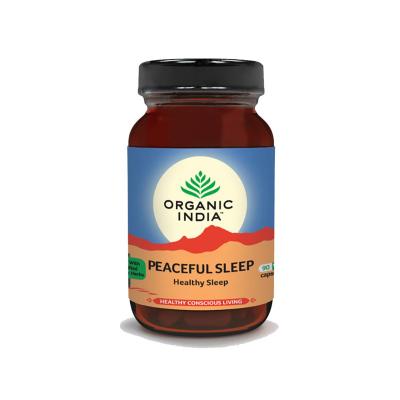 Organic India, Peaceful Sleep, Μπουκαλάκι Με 90 Χορτοφαγικές Κάψουλες