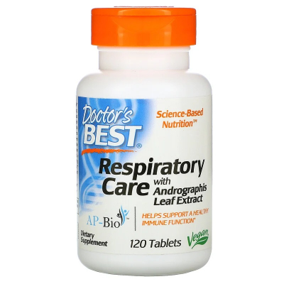Doctor's Best,  Respiratory Care with Andrographis Leaf Extract, 120 Δισκία