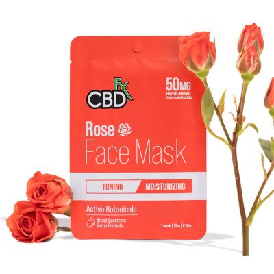 CBDfx, Hemp Face Mask - Rose, 50mg