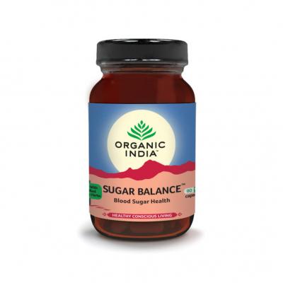 Organic India, Sugar Balance, Μπουκαλάκι Με 90 Χορτοφαγικές Κάψουλες