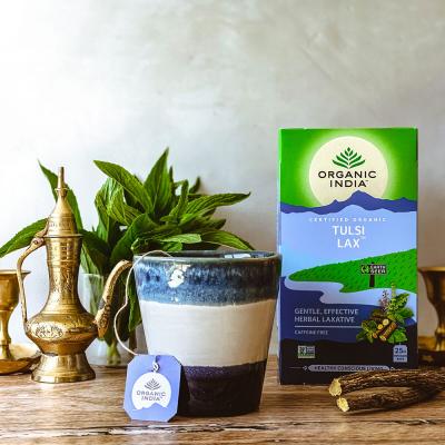 Organic India, Τσάι Lax Με Τούλσι, Χωρίς Καφεΐνη, 25 Φακελάκια
