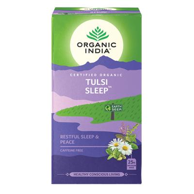 Organic India, Τσάι Sleep Με Τούλσι, Χωρίς Καφεΐνη, 25 Φακελάκια
