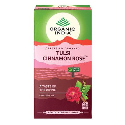 Organic India, Τσάι Cinnamon Rose Με Τούλσι, Χωρίς Καφεΐνη, 25 Φακελάκια