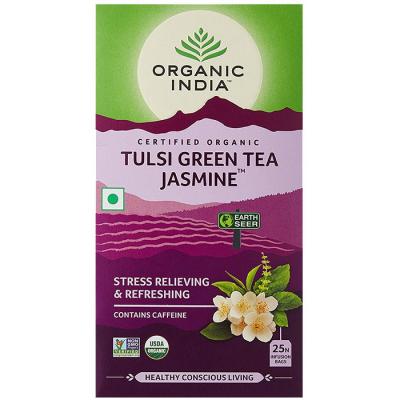 Organic India, Τσάι Jasmine Με Τούλσι, 25 Φακελάκια