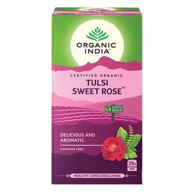 Organic India, Τσάι Sweet Rose Με Τούλσι, Χωρίς Καφεΐνη, 25 Φακελάκια
