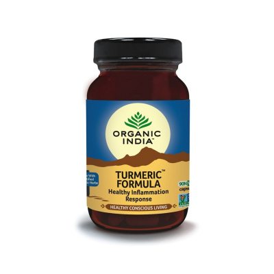 Organic India, Turmeric Formula, Μπουκαλάκι Με 90 Χορτοφαγικές Κάψουλες