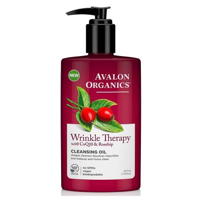 Avalon Organics, Wrinkle Therapy, Με CoQ10 & Rosehip, Λάδι Καθαρισμού, 8 fl oz (237 ml)